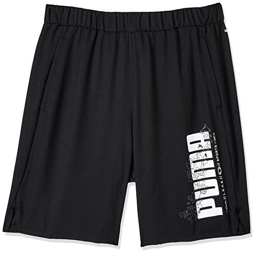 PUMA Jungen Active Sports Woven Shorts B Jogginghose, Black, 152