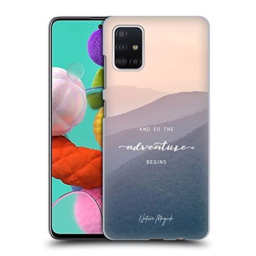 Head Case Designs Ufficiale Nature Magick Montagne Quindi L'Avventura Inizia Citazione Cover Dura per Parte Posteriore Compatibile con Samsung Galaxy A51 (2019)