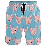 visesunny Cool Pig Animal 3D Print Graphic Mens Swim Trunks...