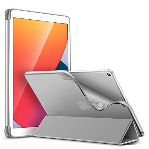 ESR Hülle für iPad 10.2, Schutzhülle für 8. Generation 2020/7. Generation 2019 [Auto Schlaf-/Wach Funktion] [Weicher Flexibler TPU Rückseite mit Sicht-/Tippständer]-Grau
