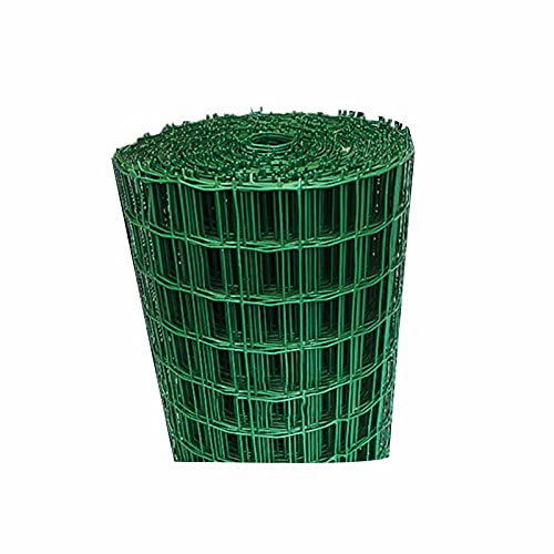 LIQICAI Lattenzaun Gartenzaun, Kunststoff + Eisendraht Outdoor Gardens Netting Plant Fencing Für Vorgarten Tier, Lochabstand 6 cm X 6 cm, Hoch1,2m (Color : Green, Size : 7mX1.2m)
