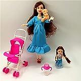 XKMY Barbie Doll House Muebles Niños Juegos de Casa de Juego para Muñeca Embarazada Cochecito de...