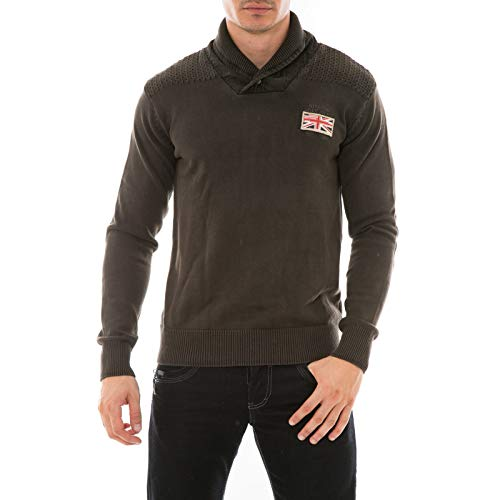 Ritchie - Pull Col Chale Leonard - Homme - S - Marron