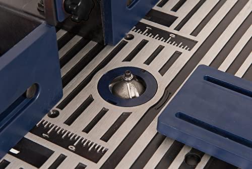 FERM PRA1011 Oberfräsetisch – Mit Staubsaugeranschluss -Verstellbare Winkelführung – Universal: für Oberfräser mit Standfuß bis 162 mm - 4