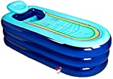 K-Flame Vasca da Bagno per Adulti XL Gonfiabile Pieghevole Vasca da Bagno Portatile in pla...