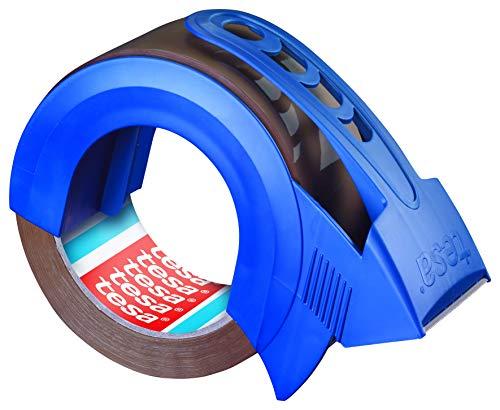 tesapack Solid & Strong Leise Abrollbares Paketband/ Packband (zum sicheren Verschließen von Paketen und Abroller)