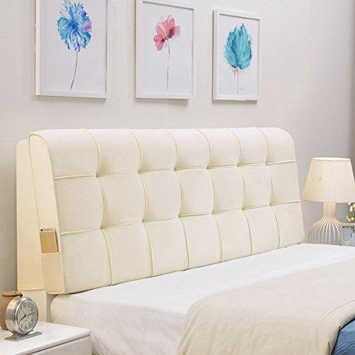 JXXDDQ Simple Coussin de Coussin de lit de tête de lit Double Tissu Art Doux étui Grand Coussin Lavable avec tête de lit/Pas de tête de lit, 4 Couleurs, 8 Tailles