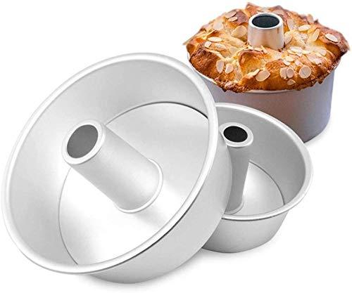 Poesschneider Aluminiumlegierung Runde Hohl Chiffon Backform Engel Lebensmittel Kuchenform Backform Mit Abnehmbaren Boden 20 cm Silber