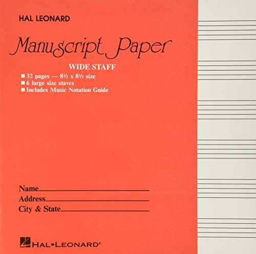 Wide Staff Manuscript Paper (Red Cover) (PAPETERIE)