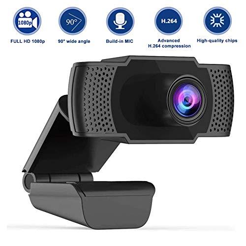 Swonuk Ultra HD 1080P Webcam mit Mikrofon, PC Laptop Webkamera für Videoanrufe, Online-Klasse, Konferenz, Spielen mit drehbare Halterung (Type 4)