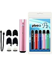プルプラ P2 電子タバコ スターターキット【バッテリー(グリーン)、メンソールポッド(1個)、アップルメンソールポッド(1個)、充電用USBケーブル、マウスピース(2個)】
