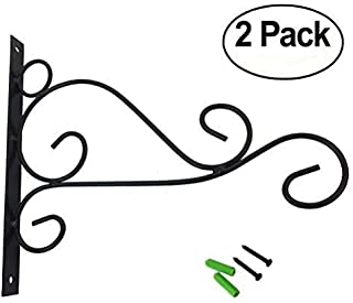Huouo Set of 2 Iron Wall Hooks for Planters, Bird Feeders, Lanterns, Wind Chimes 10