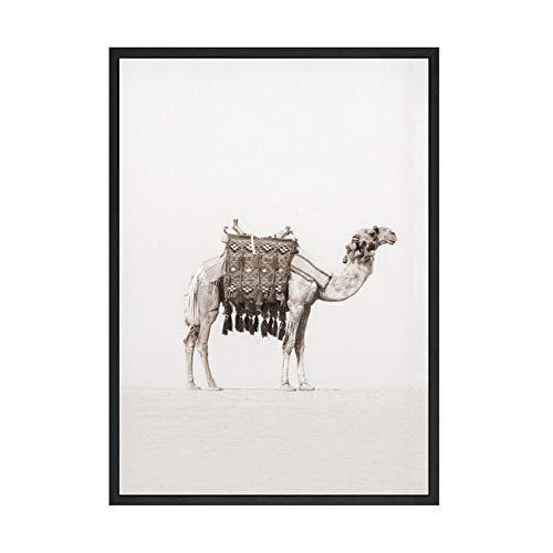 LiMengQi Marokko Kokospalme Wand-dekor Kamel Wüste Tür Leinwand Malerei Nordic Poster und Wanddrucke für Wohnzimmer Dekoration (kein Rahmen)