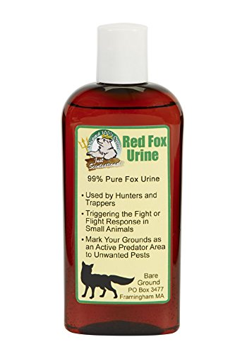Just Scentsational Bare Ground Solutions FU-4 Red Fox Urine Small Pest Repellent, 4 oz, Grey