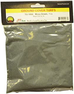 JTT Scenery Products Ground Cover Turf, Moss Green, Fine/30 Cubic Inch
