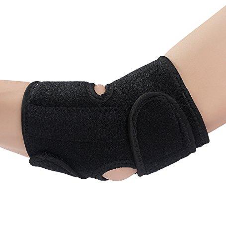 ISIYINER Ellenbogen Gelenk Bandage Sport Ellenbogenschoner Atmungsaktiv Neopren Ellenbogenschützer Elbow Support Pad für Tennis Basketball Gewichtheben