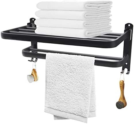 Idle Hippo Towel Rack Lavatory Towel Shelf with Two Tier Architecture Towel Bars Wall Mount product image