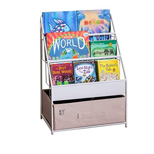 Meubles Bibliothèque pour enfants en fer Bibliothèque à étages sur plusieurs niveaux Étagère pour livres de dessins animés pour bébé Armoire de rangement pour jouets pour garçons et filles La mère net