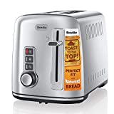 Breville 2-Slice Toaster the Perfect Fit for Warburtons with High Lift, Polished Stainless Steel [VTT570]