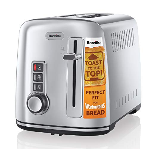 Breville 2-Slice Toaster the Perfect Fit for Warburtons with High Lift, Polished Stainless Steel...
