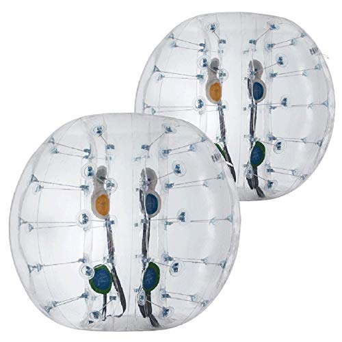 Popsport Inflatable Bumper Ball Set 4FT Bubble Soccer Ball Suit 2 Pack 0.8mm Eco-Friendly PVC Zorb Ball Human Hamster Ball for Adults and Kids (4FT 2Pcs)