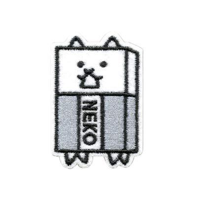 にゃんこ大戦争 ワッペン 動物 刺繍 アイロン接着 吾輩はにゃんこである ネコ 猫 cat アイロンワッペン デコ 入園 入学 かわいい 正規品 アップリケ (3・BAN450-BAN44)