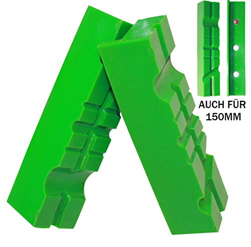 Weiche Schraubstock-Schutzbacken | GRIP&BENDER 100mm-125mm oder 150mm 60°/90° | Magnetische-Schonbacken aus TPU-Kunststoff | Schützen Ihr Werkstück | (117MM)