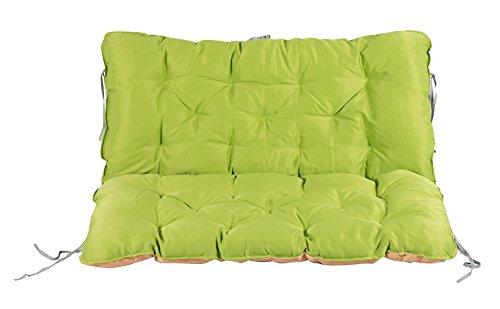 Meerweh Auflage mit Rückenteil für Bank, Wendekissen Polsterauflage Bankauflage, grün, 100 x 98 x 12 cm, 74082 - 2
