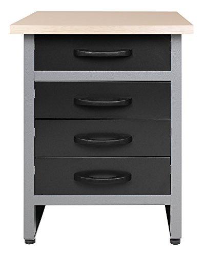 Ondis24 Werkbank Werktisch TÜV geprüft mit 4 Schubladen 60 x 60 cm Arbeitshöhe (85 cm)