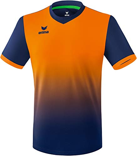 Erima Herren Leeds Trikot, New Navy/Neon orange, Large