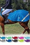 Harrison Howard Climax Couvre-Reins réfléchissant imperméable Performance Polaire Hawaii Bleu Cheval (L, 145cm)