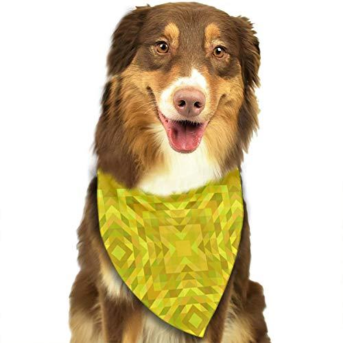 Geel behang patroon driehoek abstract ontwerp gepersonaliseerde hond kat Bandana driehoek slabbetjes sjaal huisdier geschikt voor kleine tot grote hond katten