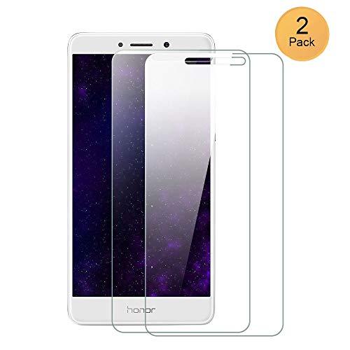 XCYYOO [2 Paquete]para Huawei Honor 6X Protector de Pantalla, Cristal Vidrio Templado [Alta Definicion] [Cobertura Completa] Premium Protector Vidrio Templado para Huawei Honor 6X,Compatible 5D Touch