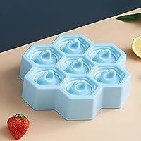 スティックとドリップガード付きの7台の鋳型シリコーンミニアイスポップ型冷凍トレイBPA無料の柔軟なアイストレイイージーリリース&家族のための清潔 - ピンク