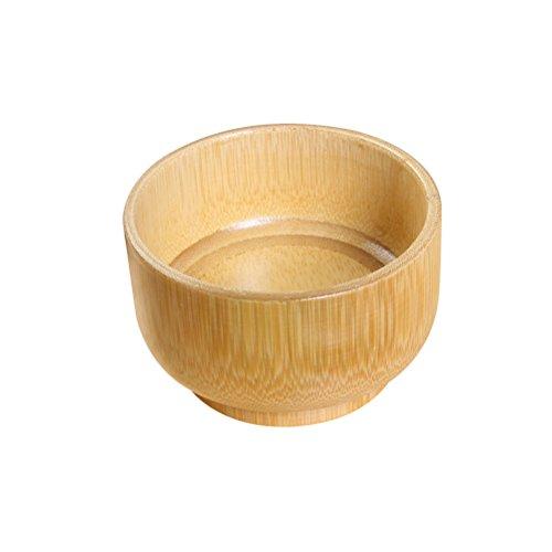 SUPVOX Brosse de rasage en bois bol rasage en bambou savon savon tasse visage nettoyage tasse contenant