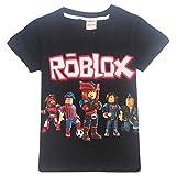 Kids Boys Roblox Fútbol Juegos Family Gaming Team Tops tee (negro1, 160 (11-12 años))