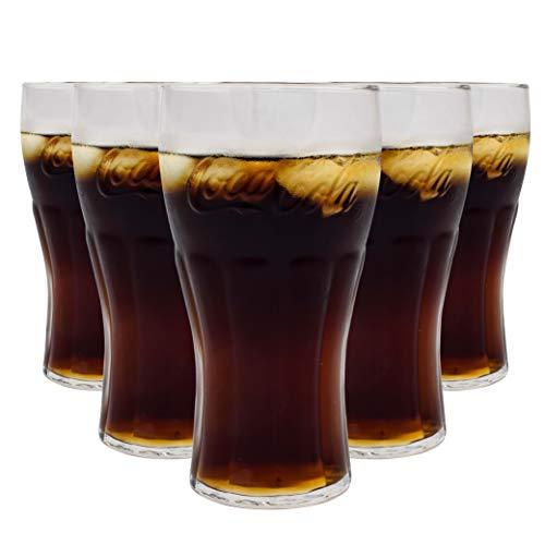 BG LOT 6 Verre Coca COLA Verre A JUS DE Fruit 15 X 7 CM 6 Verres A Soda