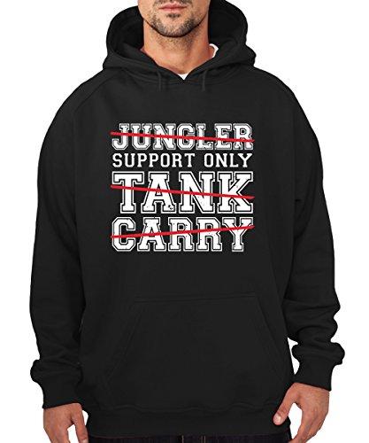 - Support Only - Boys Kapuzenpullover Schwarz, Größe XL