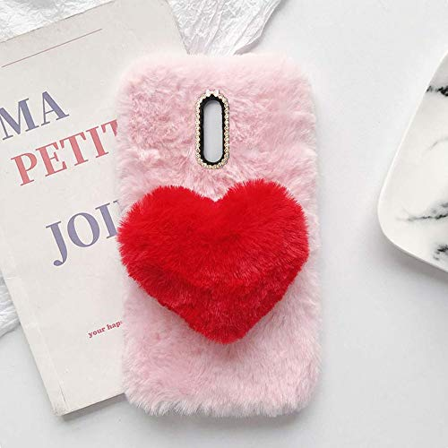 yhy Plush Heart Shaped Style Elegant Mobile Phone Case For Lenovo Vibe K4 Note TPU Silicone Anti Fall Warm Cover Pink