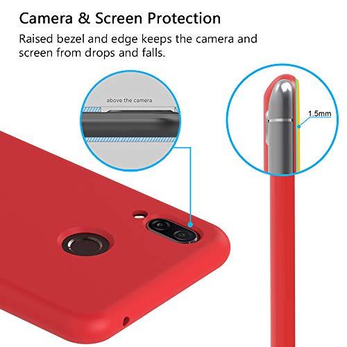 VGUARD [6 Stücke] Hülle für Huawei Honor Play, Ultra Dünn Tasche Schutzhülle Weiche TPU Silikon Gel Handyhülle Case Cover (Schwarz + Blau + Rot + Grün + Rosa + Transparent) - 4