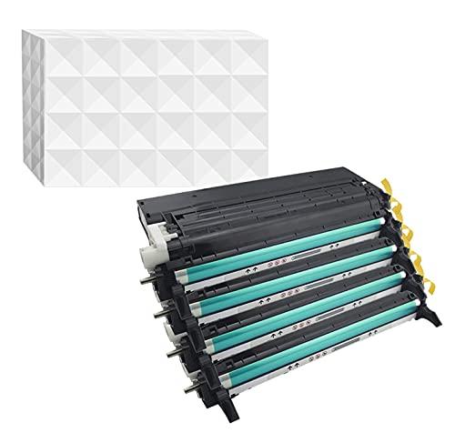 Merotoner - Tóner para Dell 3110 3115 cn (sustituye a 593-10170 / PF030 negro 593-10171 / PF029 cian, 593-10172 / RF013 magenta, 593-10173 / NF556)