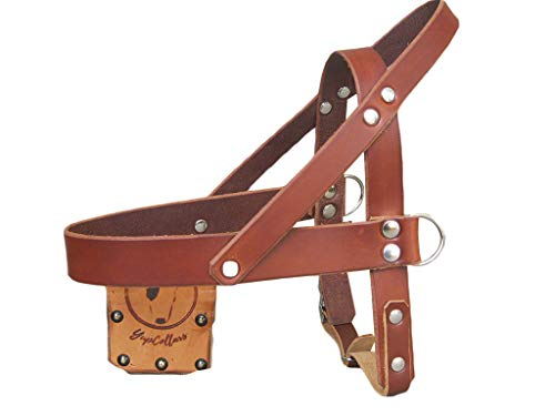 Light Brown Leather Dog Harness, Ideal for All Breeds, Adjustable Dog Harness, YupCollars, Made in Italy