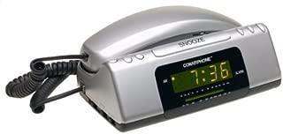 Conair TCR200MS Clock Radio Telephone (Metallic Silver)