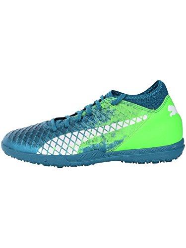 Puma Future 18.4 TT, Zapatillas de Fútbol Hombre, Azul (Deep Lagoon White-Green Gecko), 41 EU