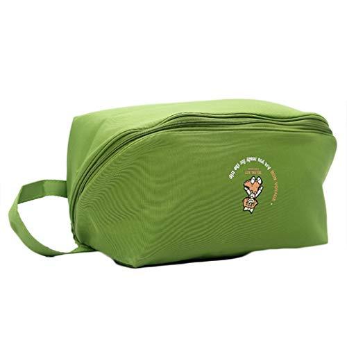 Aploa Reisetasche Frauen wasserdichte Reise Aufbewahrungstasche Unterwäsche BH Sortierung Veranstalter Taschen, Aufbewahrungstasche für Spielzeug BH Unterwäsche (Grün)