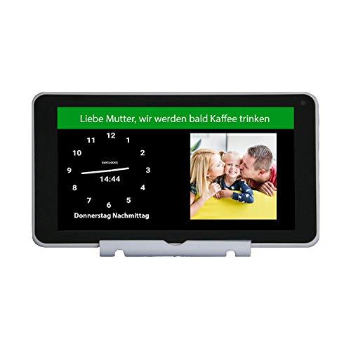 DayClocks Seniorenuhr 7″ inkl. Kalender & Nachrichten- & Foto-Funktion (6 Monate gratis) - Digitale Uhr, Kalender & Tablet für Senioren & Demenzkranke (z.B Alzheimer) mit Erinnerungsfunktion