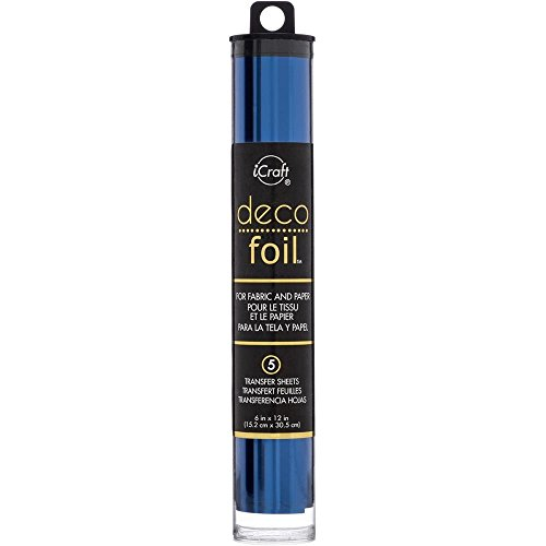 Deco Foil - Transfer Sheets - Champagne, Spring Green, Aqua, Deep Blue, Lilac & Pink Melon - Bundle of 6 Packages