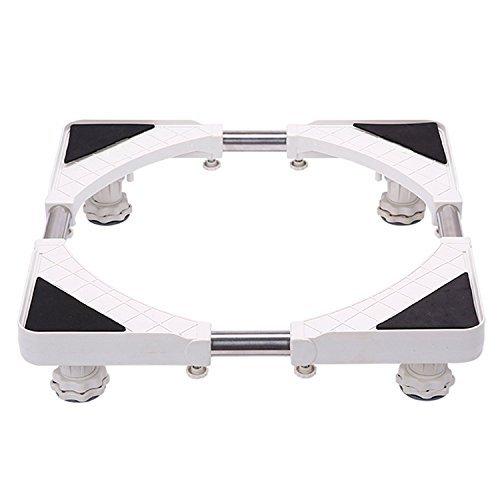 Washing Machine Base Frame for Refrigerator Adjustable Stand with 4 starke Füße Swivel Wheels for Tumble Dryer, Washing Machine and Fridge