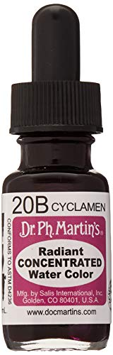 Dr. Ph. Martin's Radiant Concentrated Water Color, 0.5 oz, Cyclamen (20B)