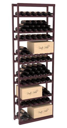 Wine Racks America Pine Baker Style Case/Bottle Rack. Burgundy Stain + Satin Finish